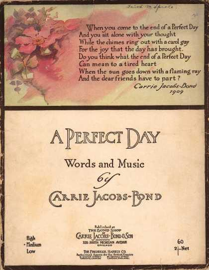 Sheet Music - A perfect day