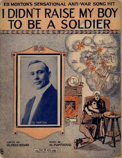 Sheet Music - I didn't raise my boy to be a soldier