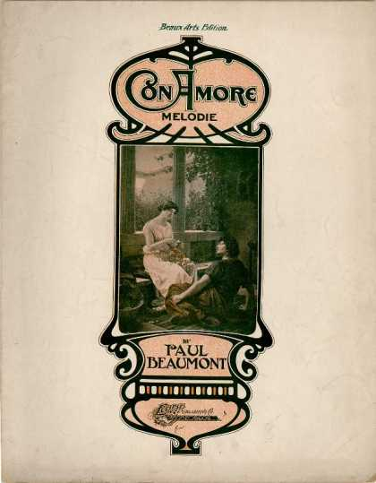 Sheet Music - Con amore; Melodie