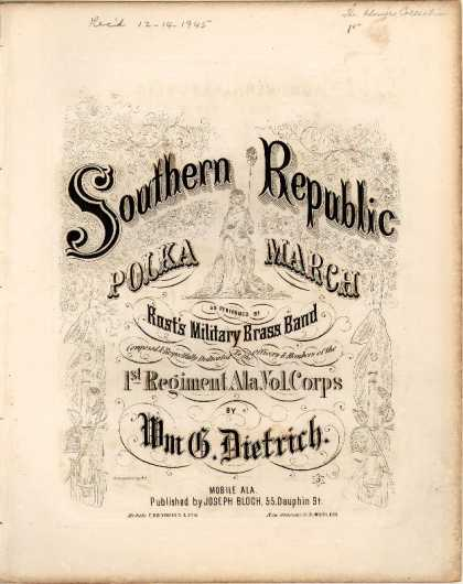 Sheet Music - Southern republic polka march
