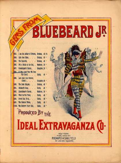 Sheet Music - If they must tear me from thy heart; Bluebeard Jr.