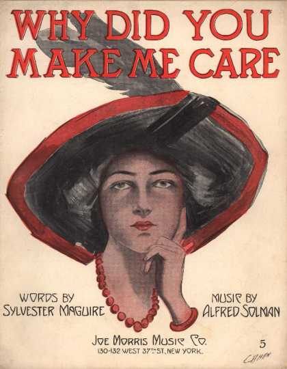 Sheet Music - Why did you make me care