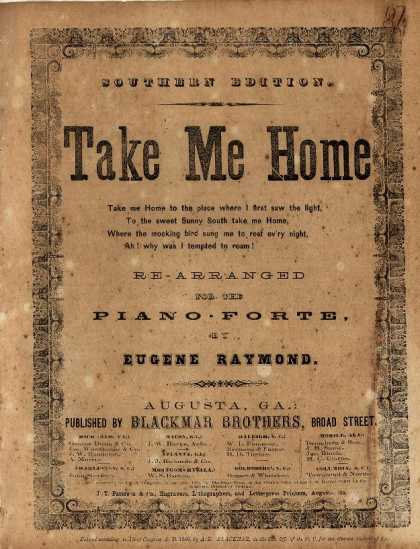 Sheet Music - Take me home