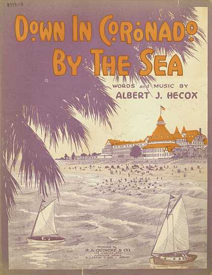 Sheet Music - Down in Coronado by the sea