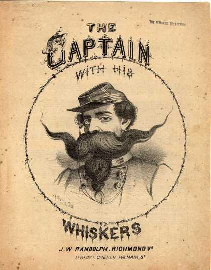 Sheet Music - The captain with his whiskers