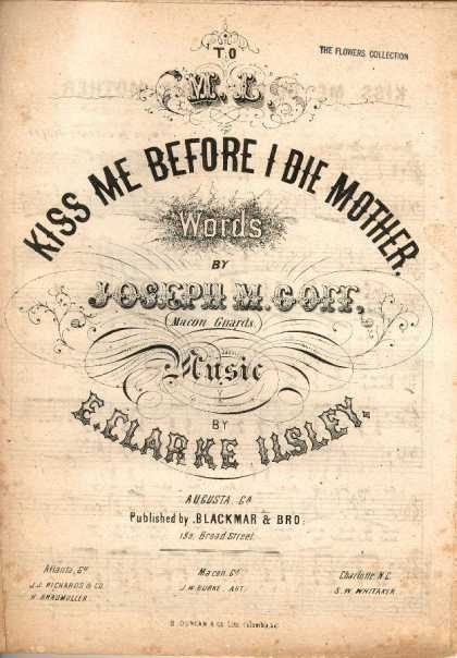 Sheet Music - Kiss me before I die Mother