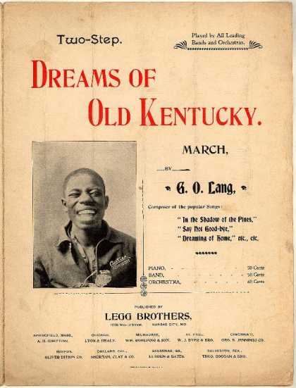Sheet Music - Dreams of old Kentucky; March--two-step