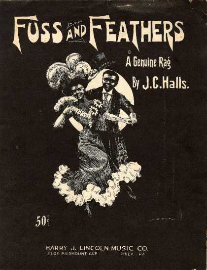 Sheet Music - Fuss and feathers; A genuine rag