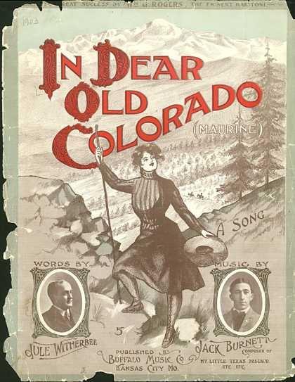 Sheet Music - In dear old Colorado