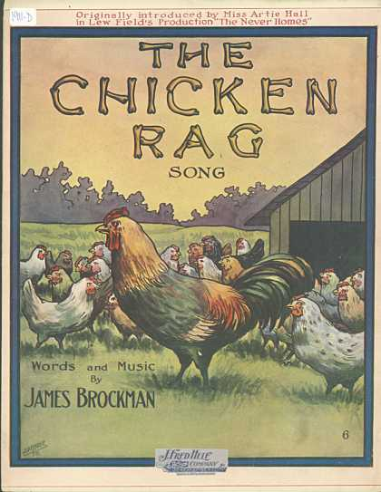 Sheet Music - The chicken rag