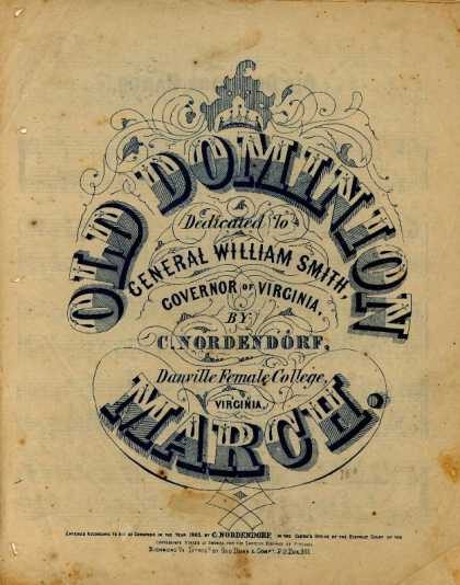 Sheet Music - Old Dominion march