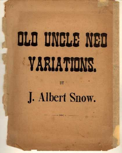 Sheet Music - Old Uncle Ned with variations