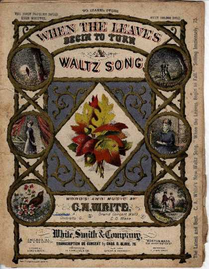 Sheet Music - When the leaves begin to turn : a waltz song