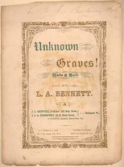 Sheet Music - Unknown graves
