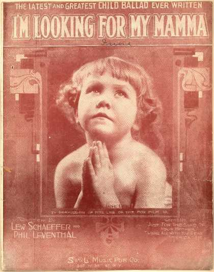 Sheet Music - I'm looking for my mama
