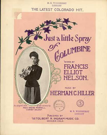 Sheet Music - Just a little spray of columbine