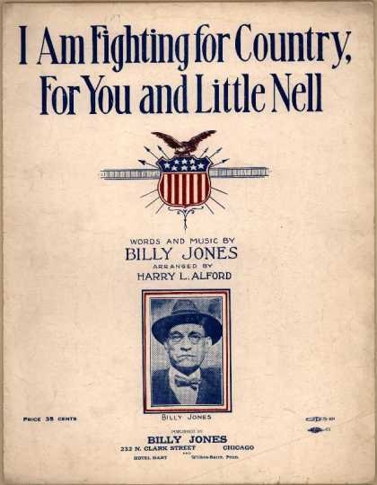 Sheet Music - I am fighting for country, for you and little Nell