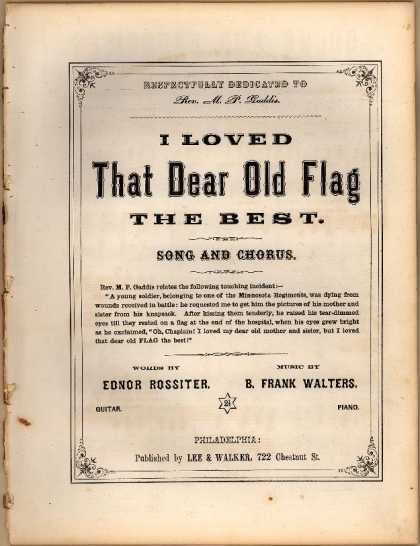 Sheet Music - I loved that dear old flag the best
