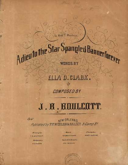 Sheet Music - Adieu to the star spangled banner forever