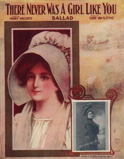 Sheet Music - There never was a girl like you; Ballad