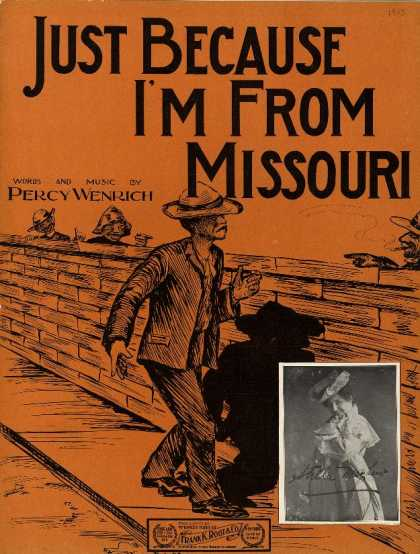 Sheet Music - Just because I'm from Missouri