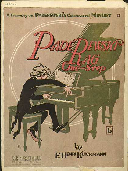 Sheet Music - Paderewski rag