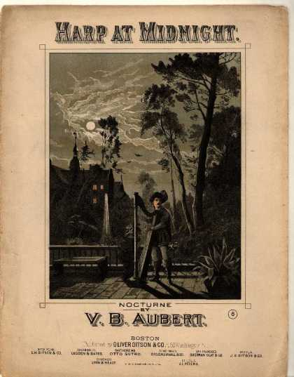 Sheet Music - Harp at midnight; Nocturne