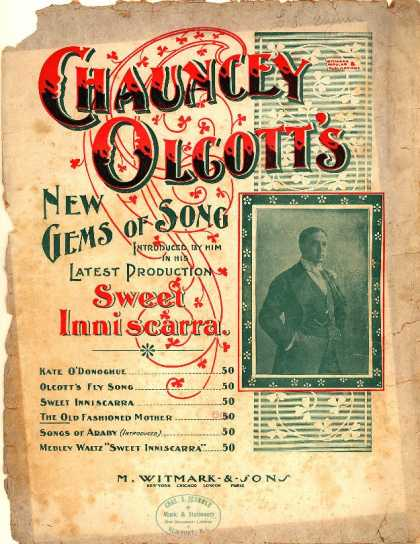 Sheet Music - Old fashioned mother; Sweet Inniscarra