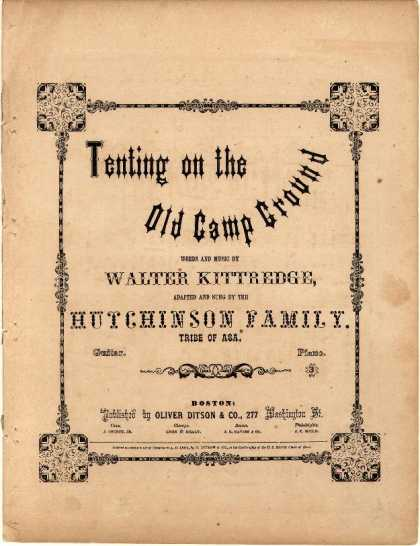 Sheet Music - Tenting on the old camp ground