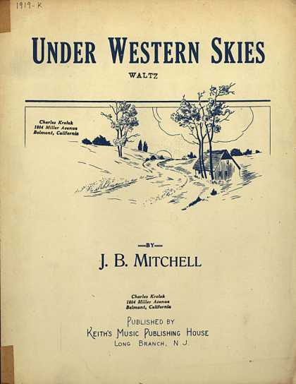 Sheet Music - Under western skies