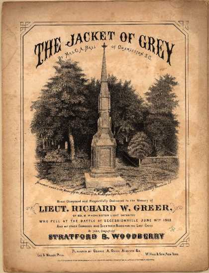 Sheet Music - The jacket of grey