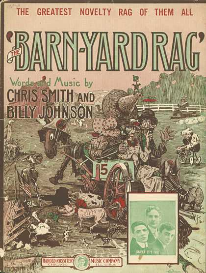 Sheet Music - The barn yard rag