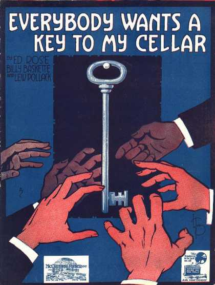 Sheet Music - Everybody wants a key to my cellar