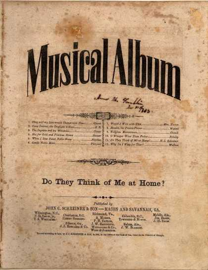 Sheet Music - Do they think of me at home?