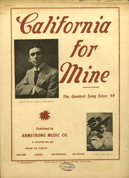 Sheet Music - California