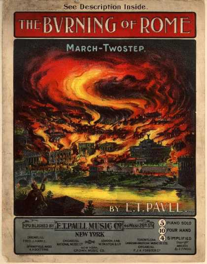 Sheet Music - The burning of Rome