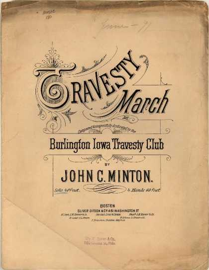Sheet Music - Travesty march