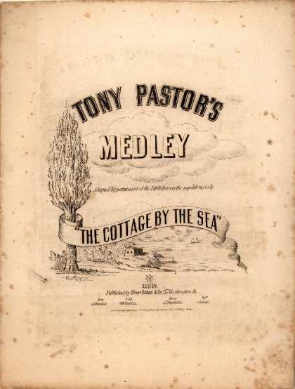 Sheet Music - Tony Pastor's medley The cottage by the sea