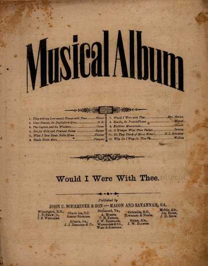 Sheet Music - Would I were with thee