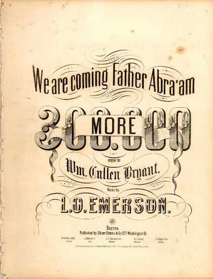 Sheet Music - We are coming Father Abra'am 300.000 more