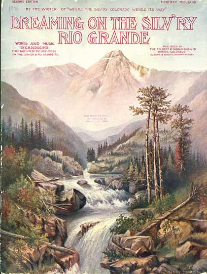 Sheet Music - Dreaming on the silv'ry Rio Grande
