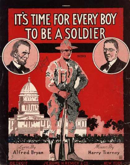 Sheet Music - It's time for every boy to be a soldier