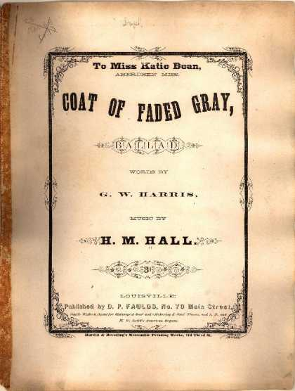 Sheet Music - Coat of faded gray