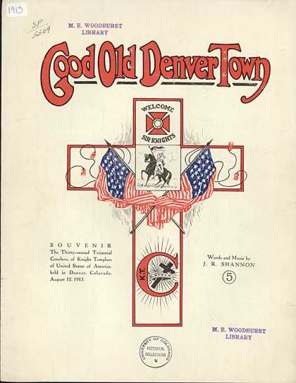Sheet Music - Good old Denver town