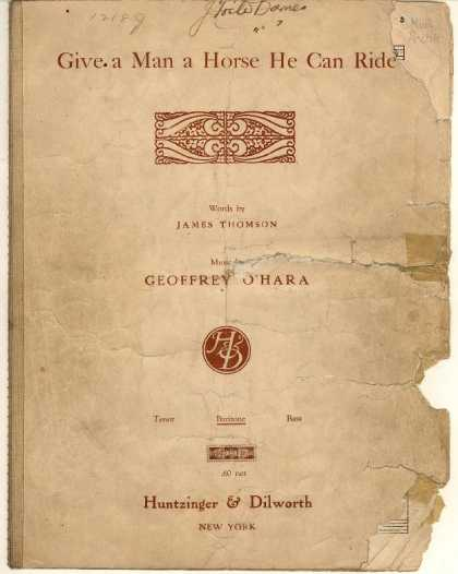 Sheet Music - Give a man a horse he can ride