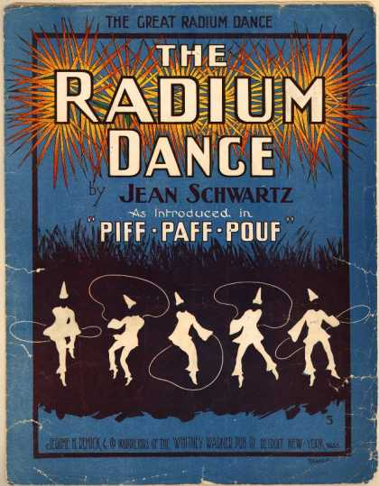 Sheet Music - The radium dance; Piff-paff-pouf