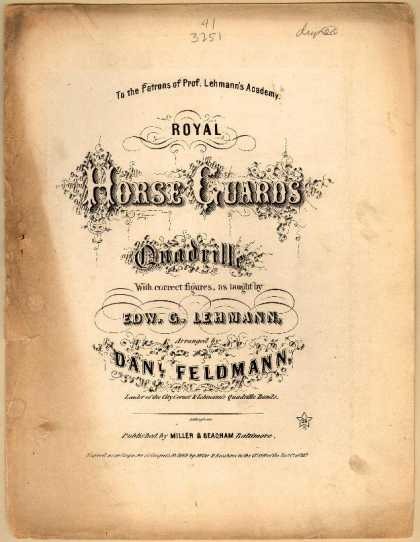 Sheet Music - Royal horse guards quadrille