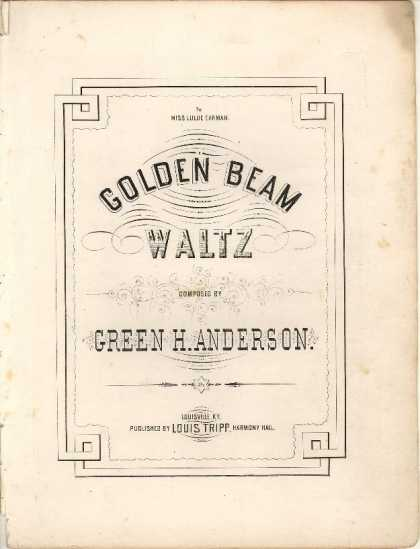 Sheet Music - Golden beam waltz