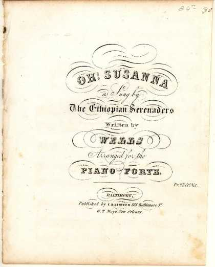 Sheet Music - Oh! Susanna