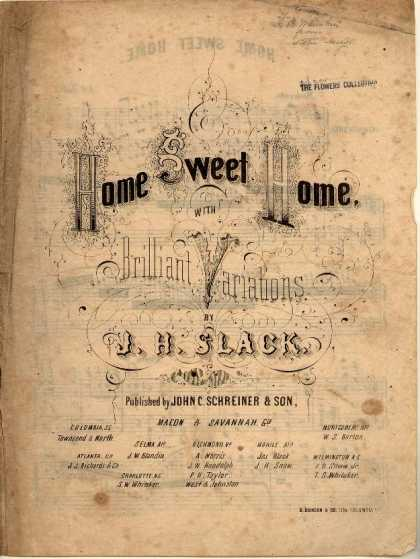 Sheet Music - Home sweet home with brilliant variations